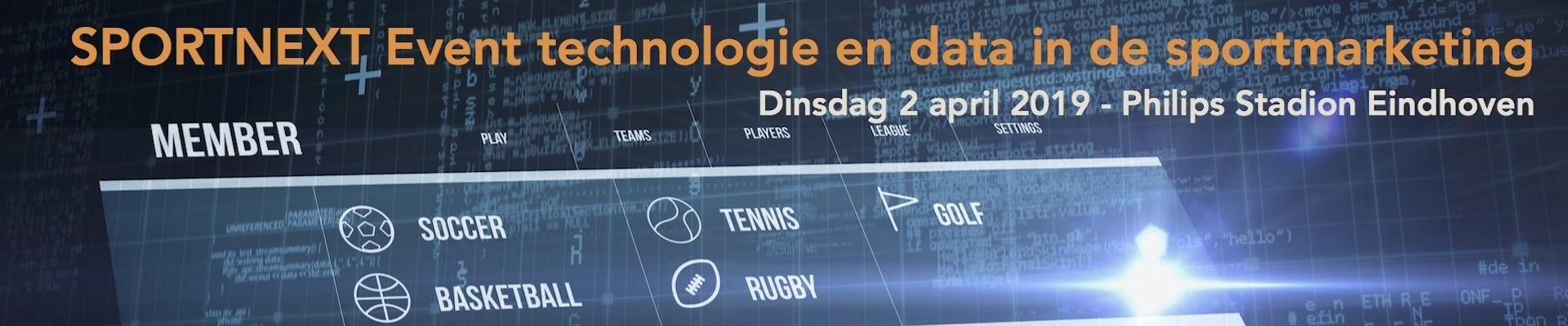 SPORTNEXT Event technologie en data in de sportmarketing