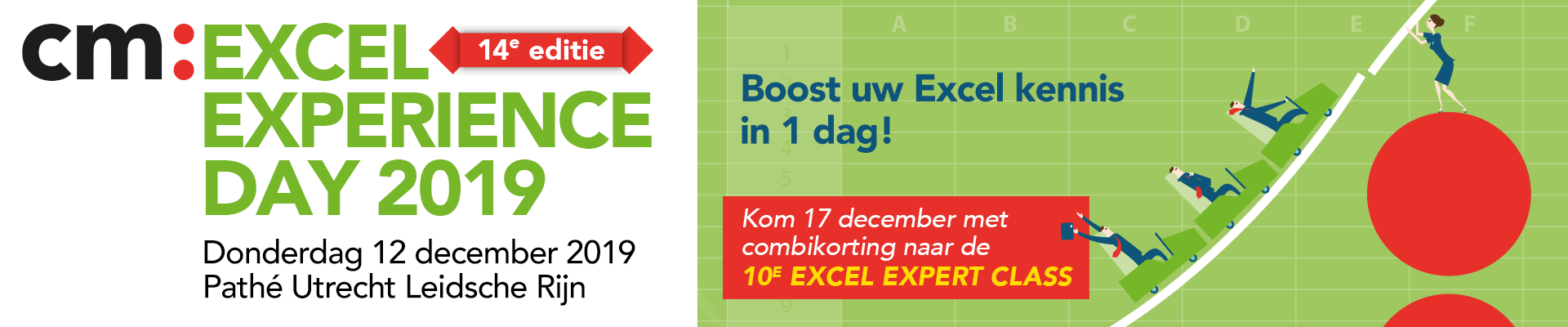 cm: Excel Experience Day en/of Excel Expert Class 2018