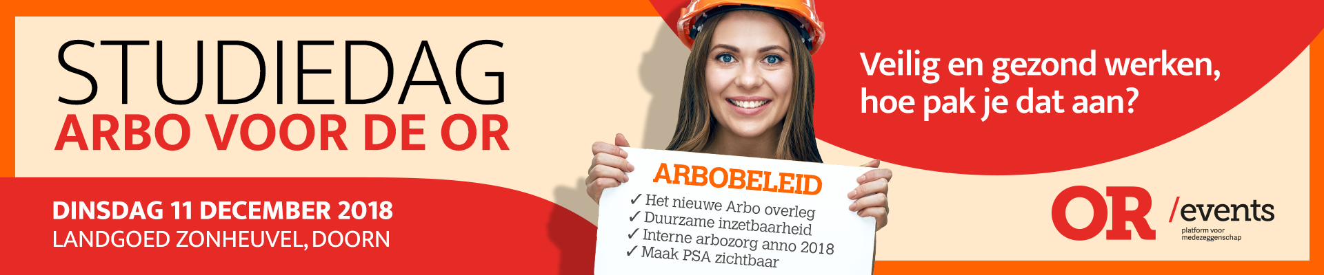 Studiedag Arbo voor de OR 11 december 2018