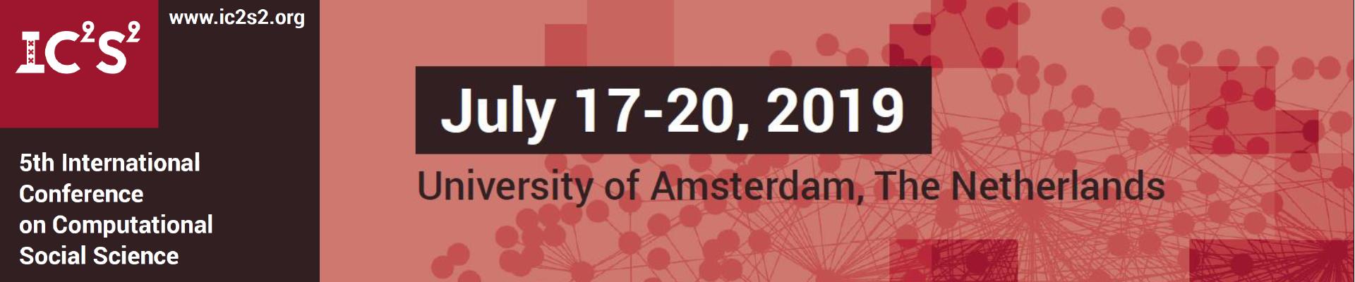 IC2S2 2019 Amsterdam