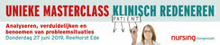 Masterclass Klinisch Redeneren | 27 juni 2019