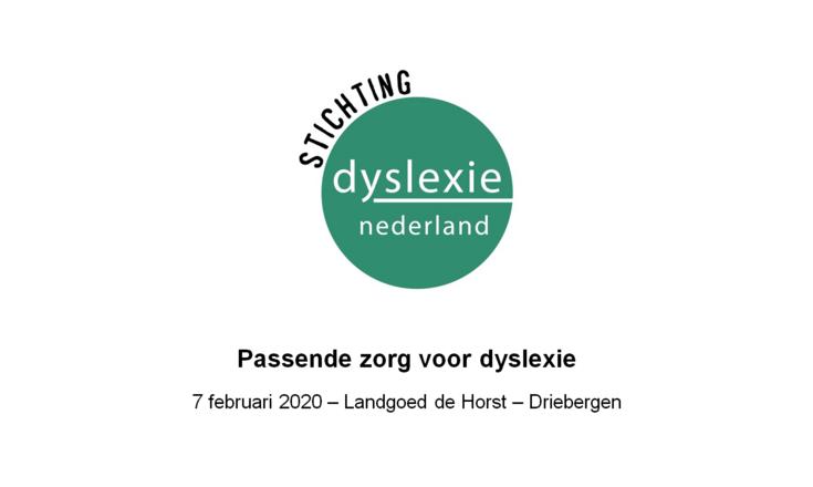 SDN 2020 - Passende zorg voor dyslexie