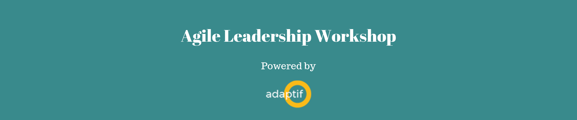 Adaptif Agile Leadership Workshop