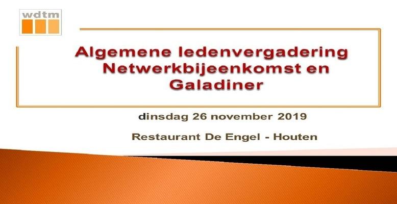 WDTM | ALV, Netwerkbijeenkomst en Galadiner