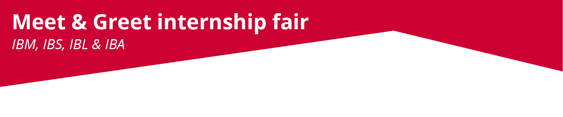 Meet & greet internship fair 2020 - jaar 3