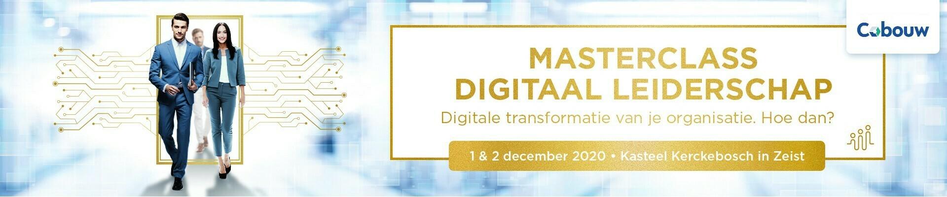Masterclass Digitaal Leiderschap Infra, 23 en 24 november 2020