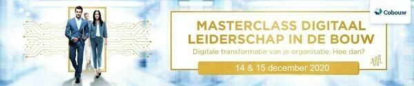 Masterclass Digitaal Leiderschap Bouw, 14 en 15 december 2020