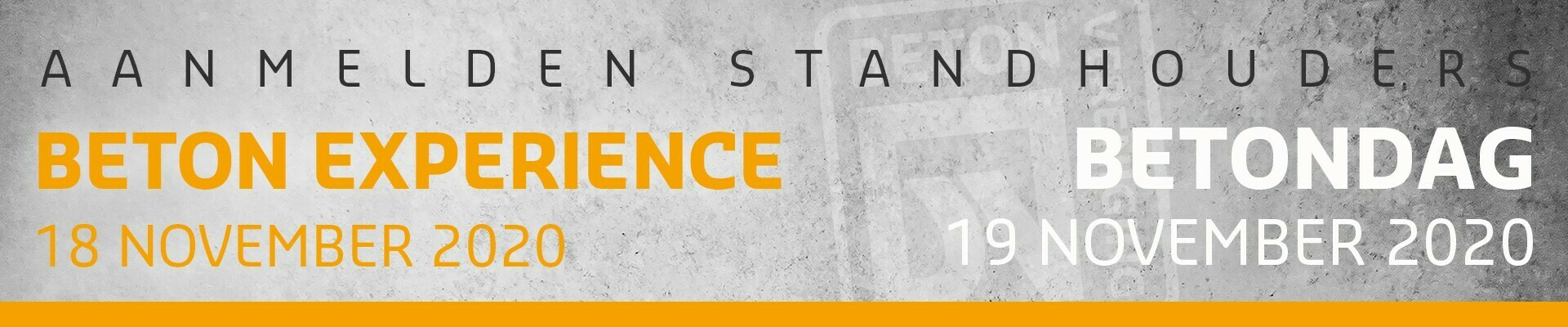 Standhouders Beton Experience & Betondag 2020