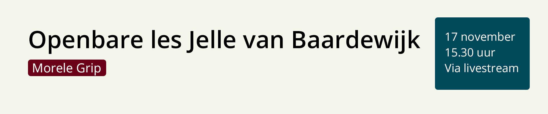Openbare les Jelle van Baardewijk