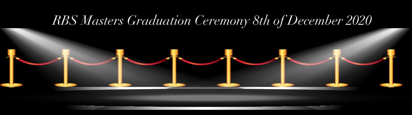 Master Graduation Ceremony 2020