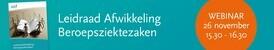 Webinar Project Leidraad Afwikkeling Beroepsziektezaken