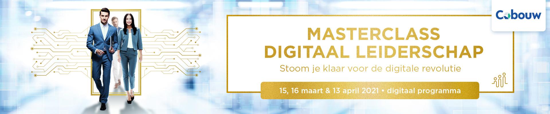 Masterclass Digitaal Leiderschap Bouw en infra 15 en 16 maart 2021