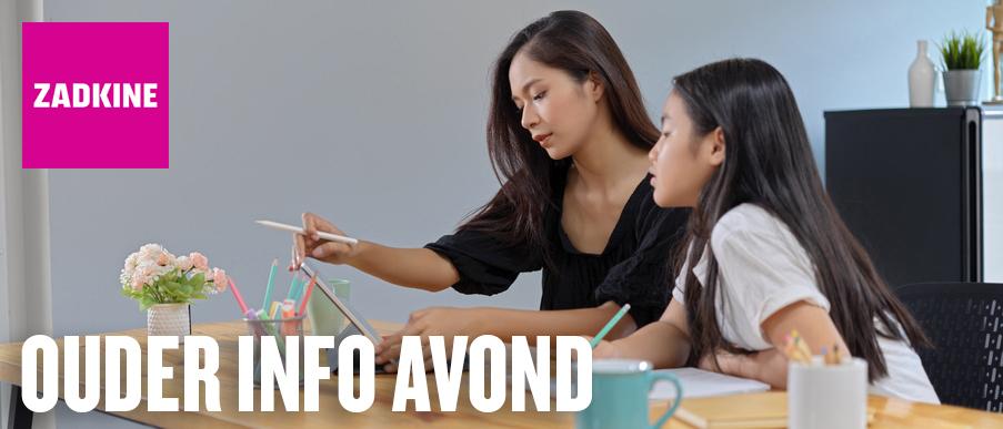Ouder info avond | Zadkine Studiekeuzecentrum
