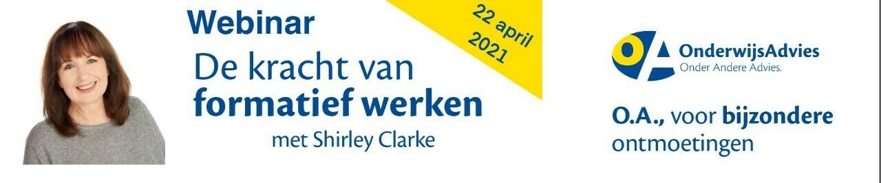 Webinar 'De kracht van formatief werken met Shirley Clarke'