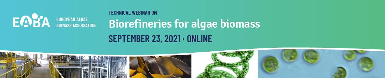 Biorefineries for algae biomass