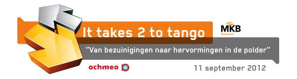It takes 2 to tango, van bezuinigingen naar hervormingen in de polder