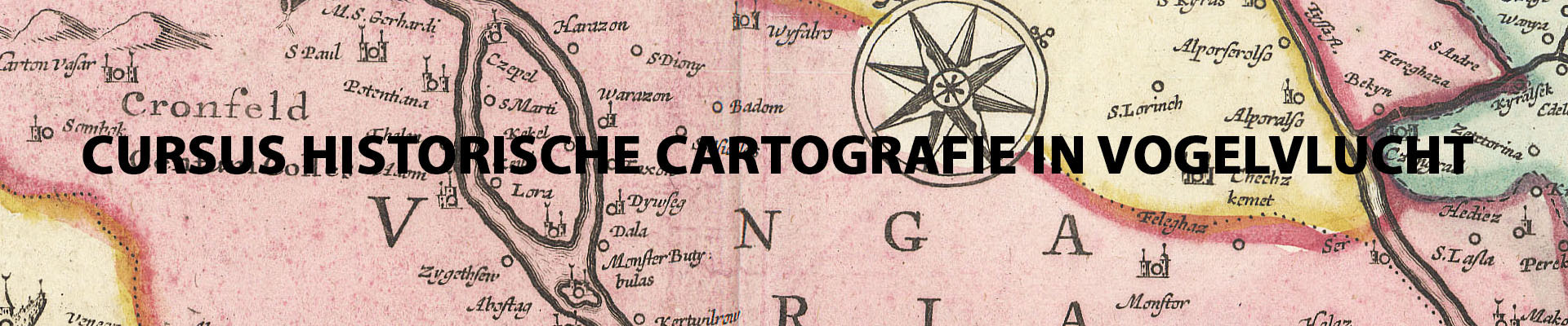 Cursus Historische Cartografie in Vogelvlucht