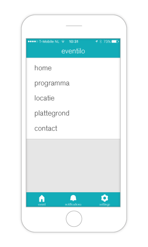 Features van de event app